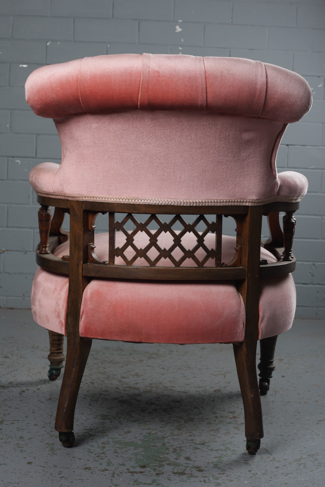 Victorian salon armchairs