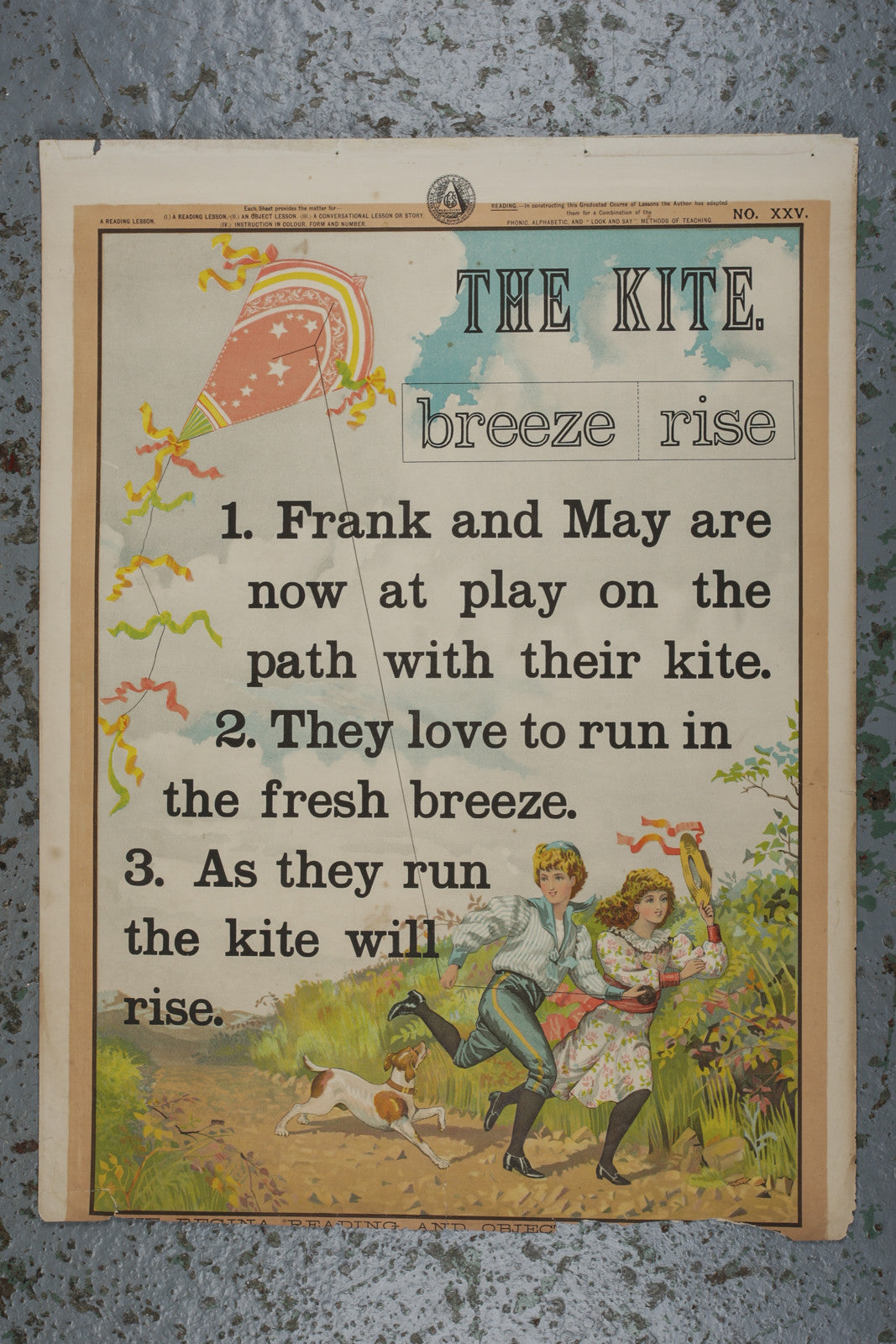 Vintage educational reading poster