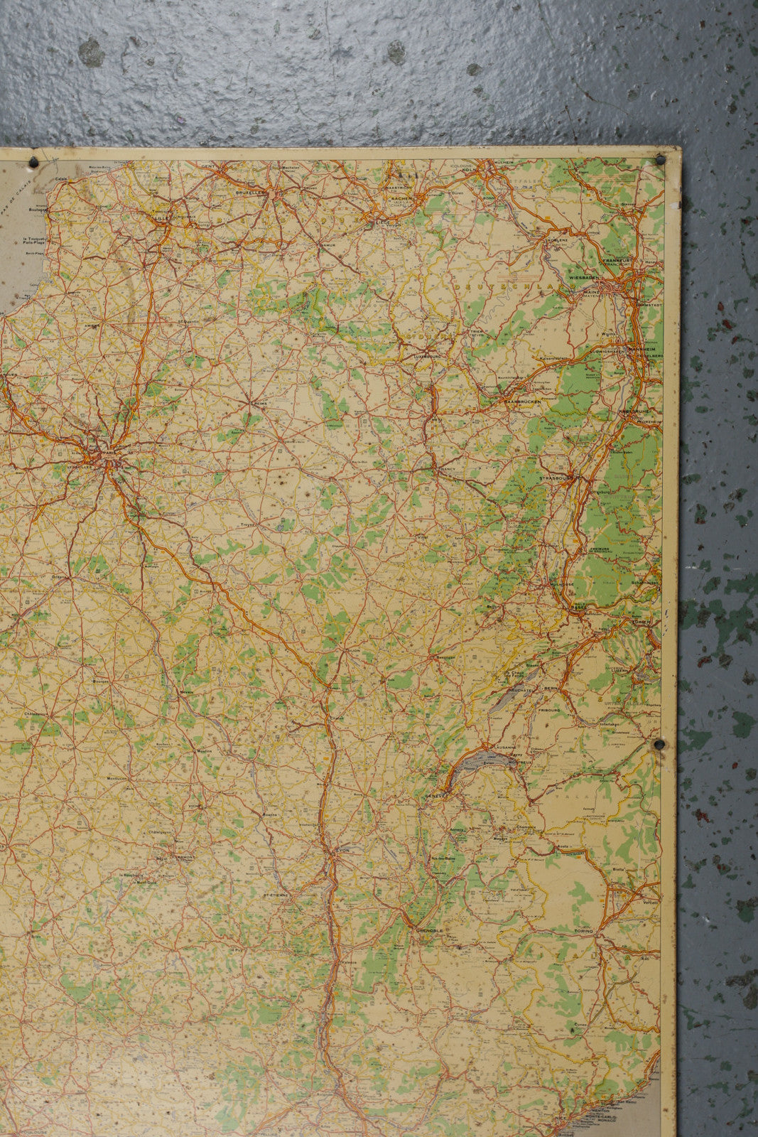 Road Map Of France.Enamel Road Map Of France Industrious Interiors
