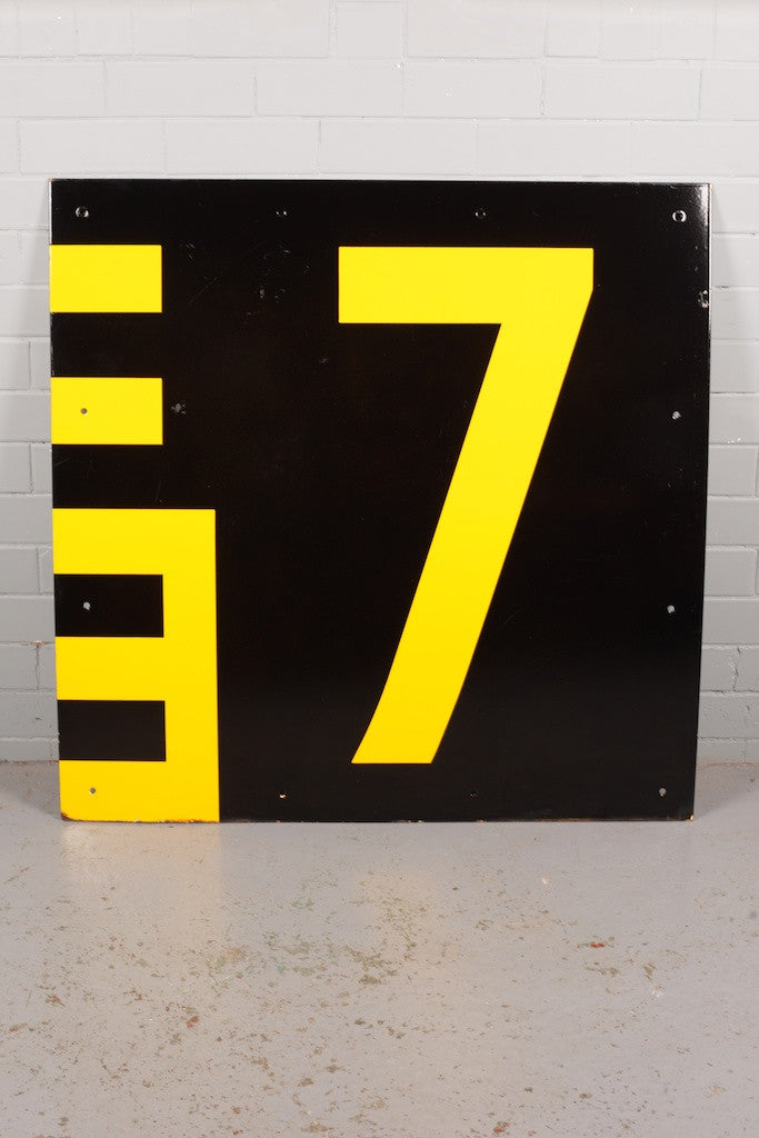 Large Enamel Harbour Depth Sign