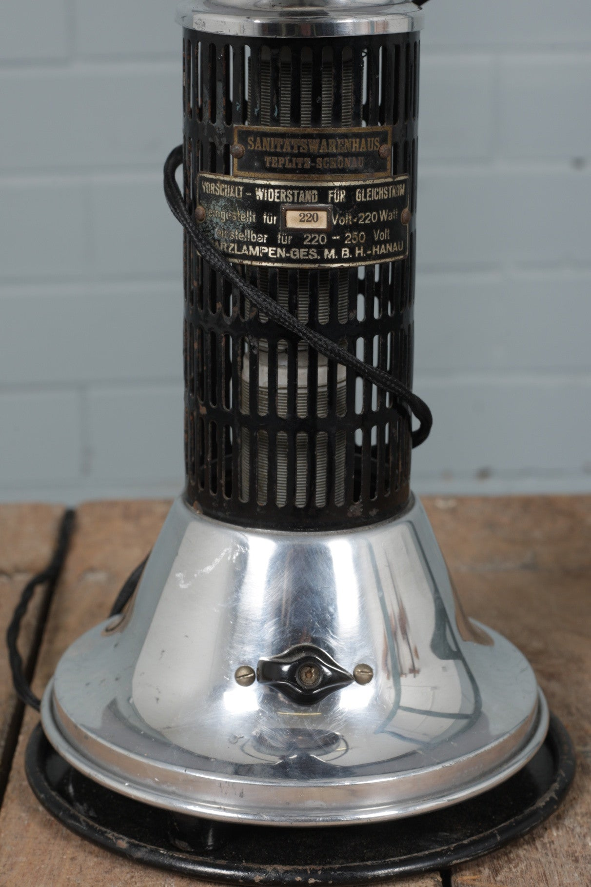 Original Hanau Converted Sunlamp