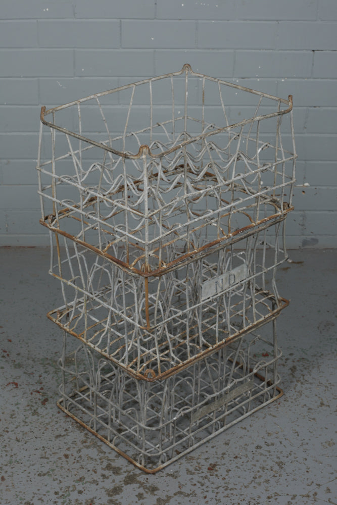Galvanised Metal Milk Crates
