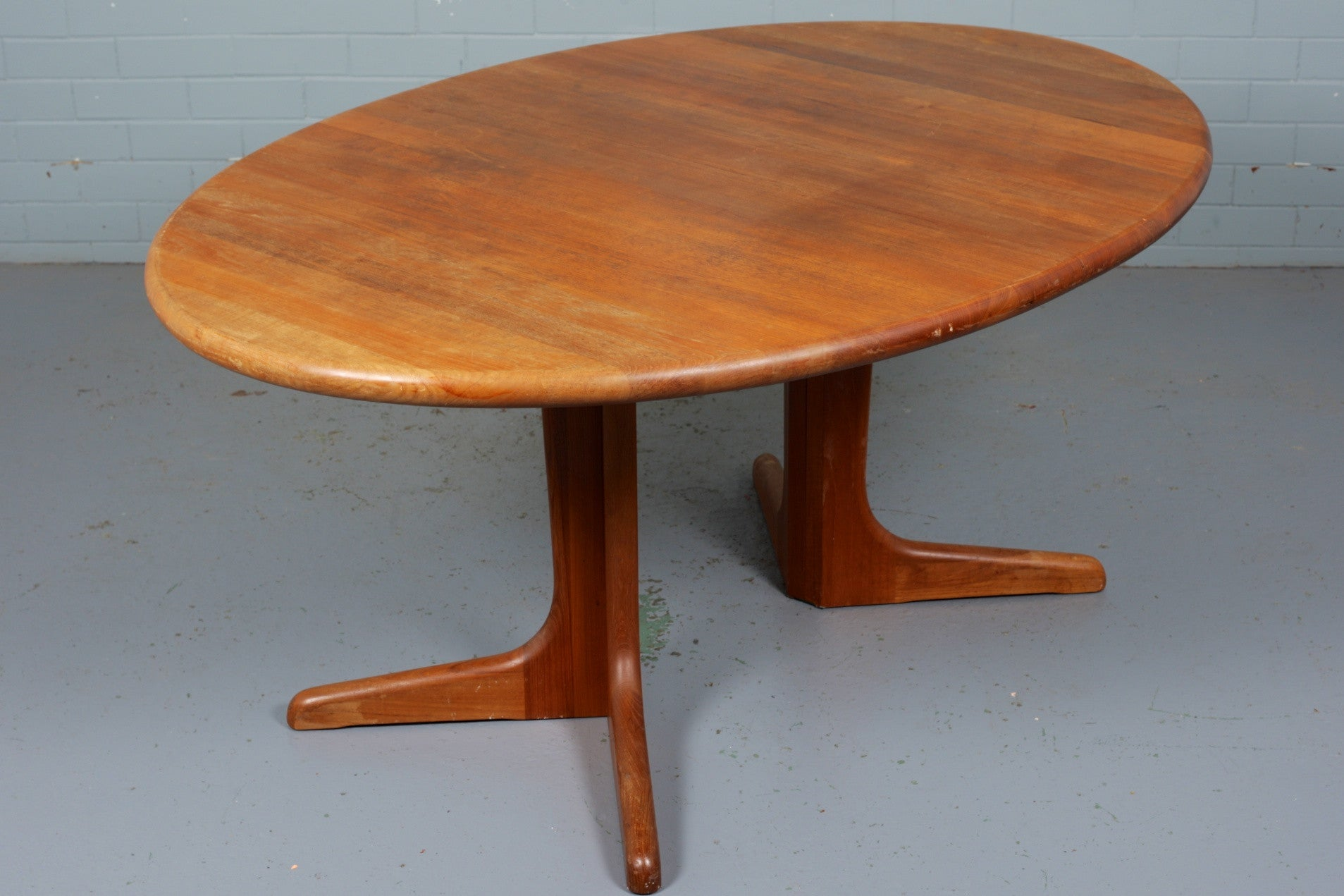 Large Teak Extending Dining Table