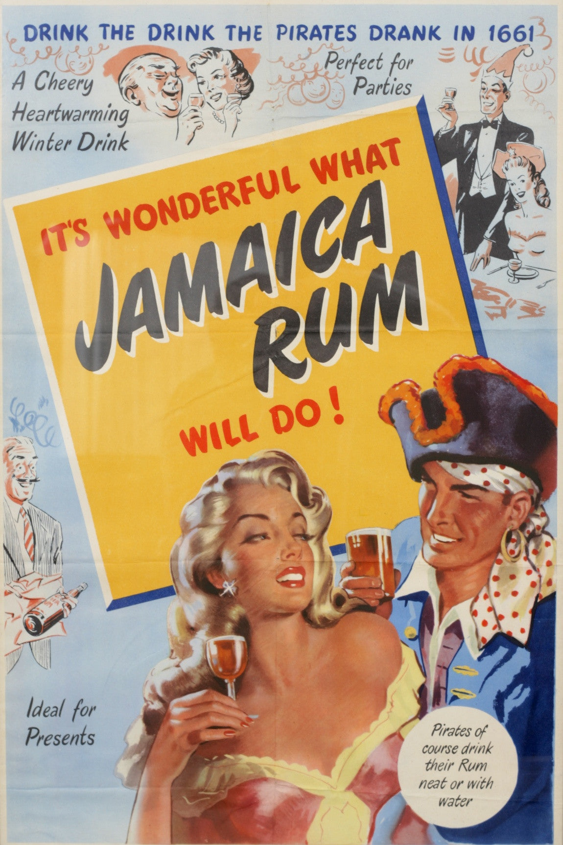 Jamaica Rum Advertising Poster