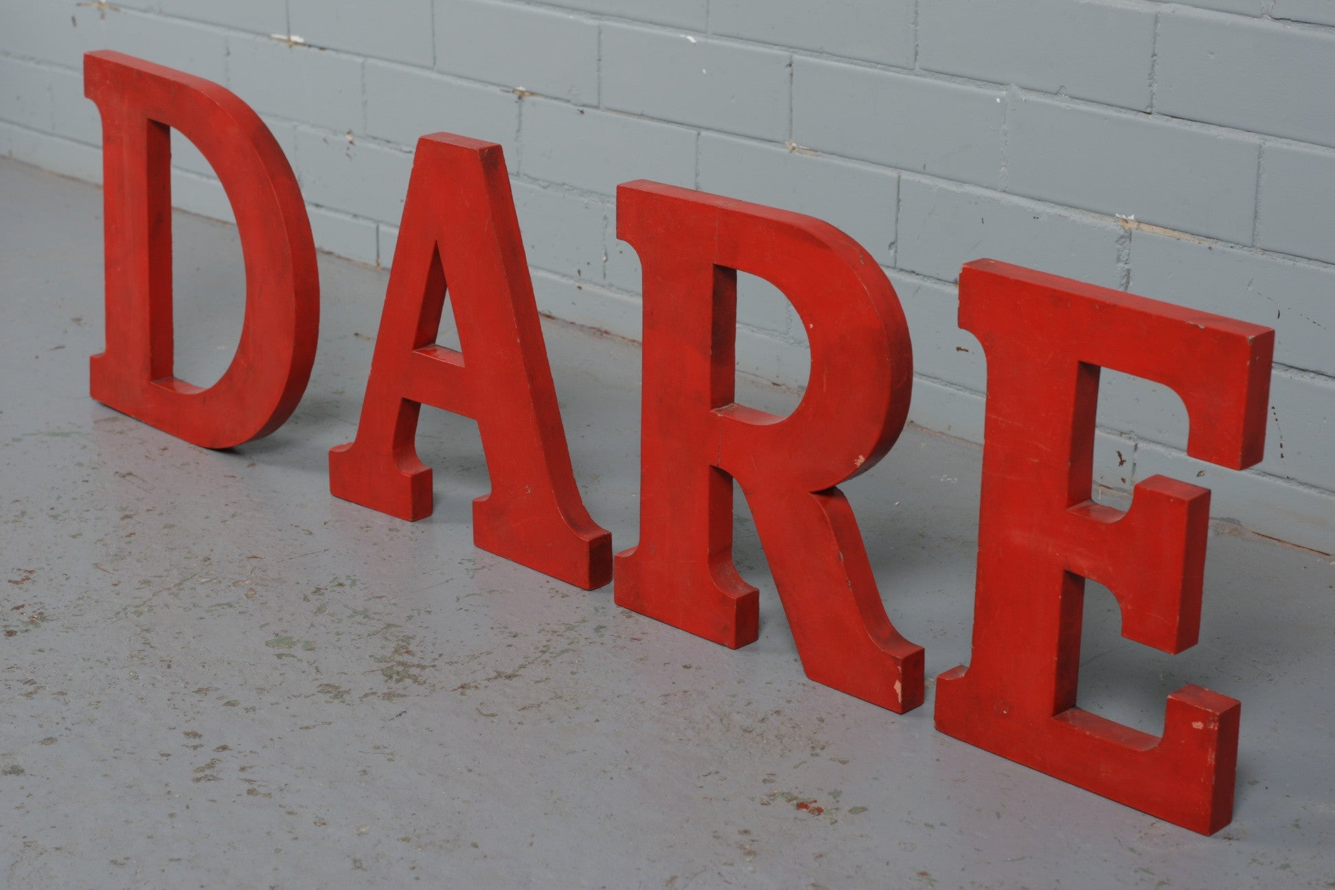 Red Wooden Letters