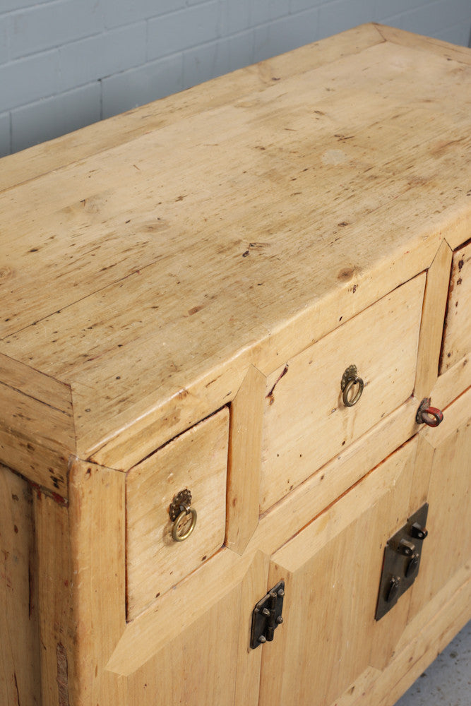 Chinese wooden sideboard available to buy at Industrious Interiors, an online vintage furniture and homeware store based in Nottingham, England.