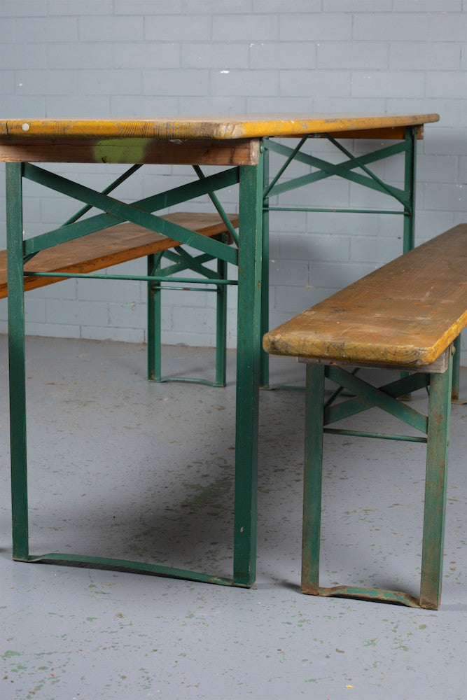 German Beer Hall Folding Tables and Benches