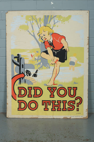 A vintage anti-litter advertising poster available to buy from Industrious Interiors, an online vintage furniture and homeware store based in Nottingham, England.