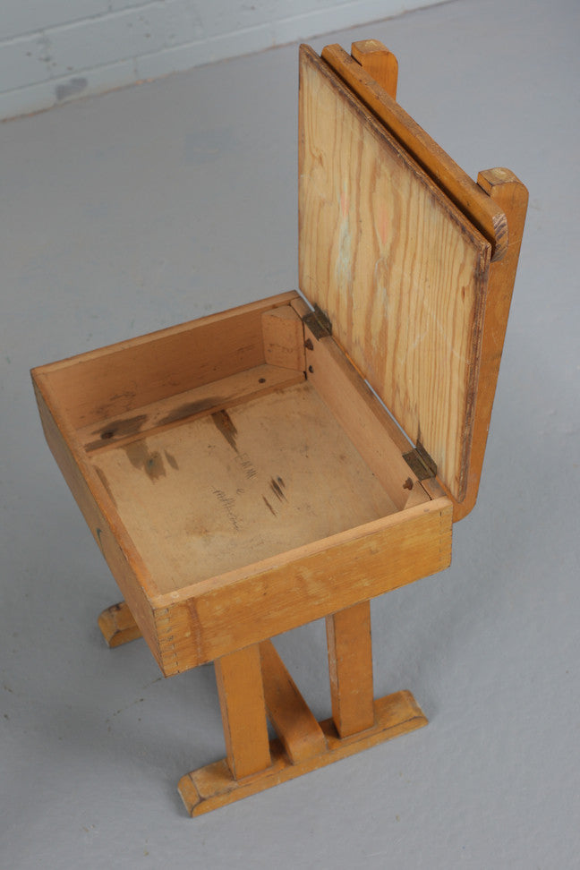 Child's School Desk and Chair