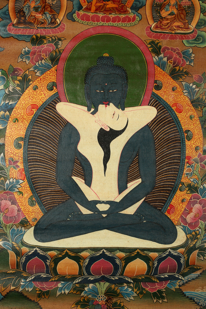 Thangka Depicting Buddha With Consort.