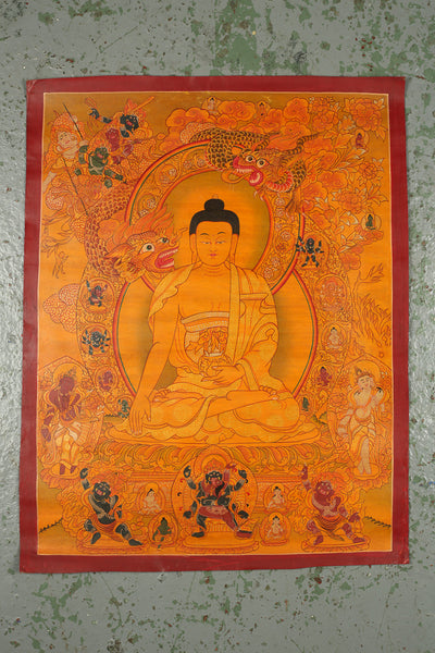 Thangka Depicting Shakyamuni Buddha