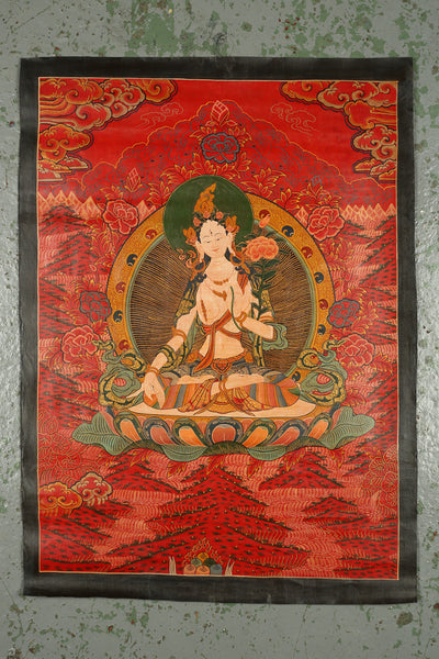 Thangka Depicting White Tara