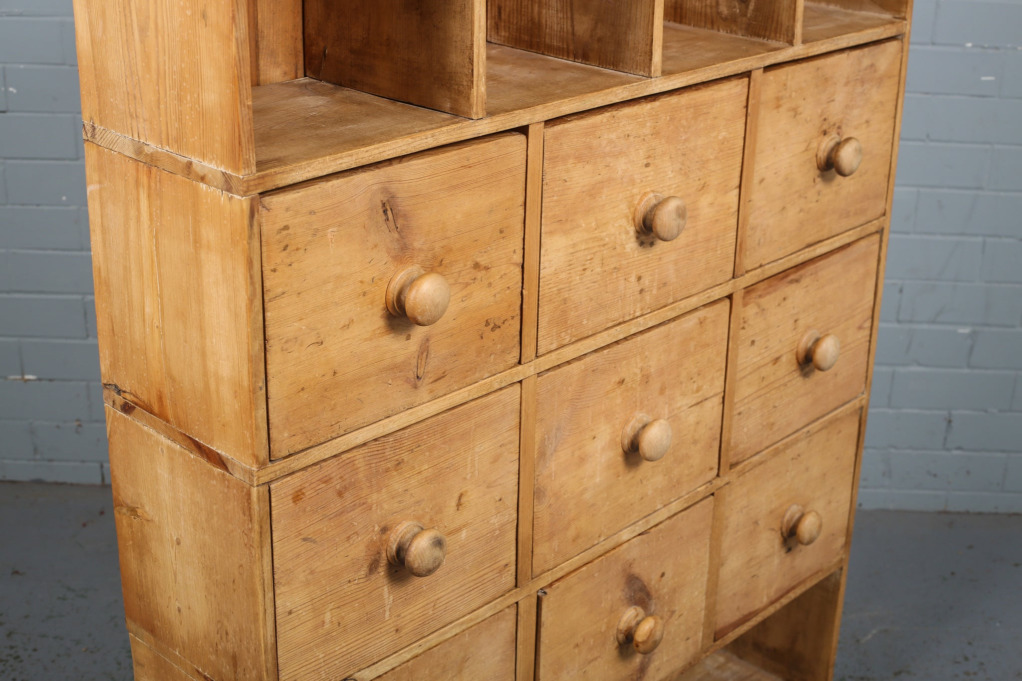 Antique Pine Apothecary Chest of Drawers