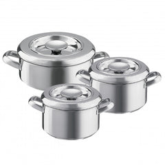 Aga 3 Piece Stainless Steel Casserole Set
