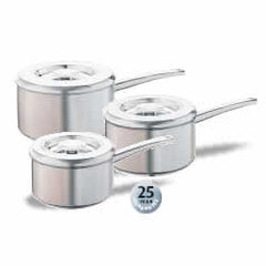 Aga stainless steel saucepan set