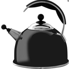 Aga Stainless Steel Whistling Kettle in Gloss Black