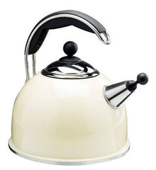 Aga Stainless Steel Whistling Kettle in Cream