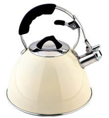Charterhouse Stainless Steel 3L Whistling Kettle Cream - All Hobs