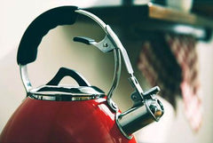 Charterhouse Stainless Steel Whistling 3L / 5L Kettle in Red - All Hobs