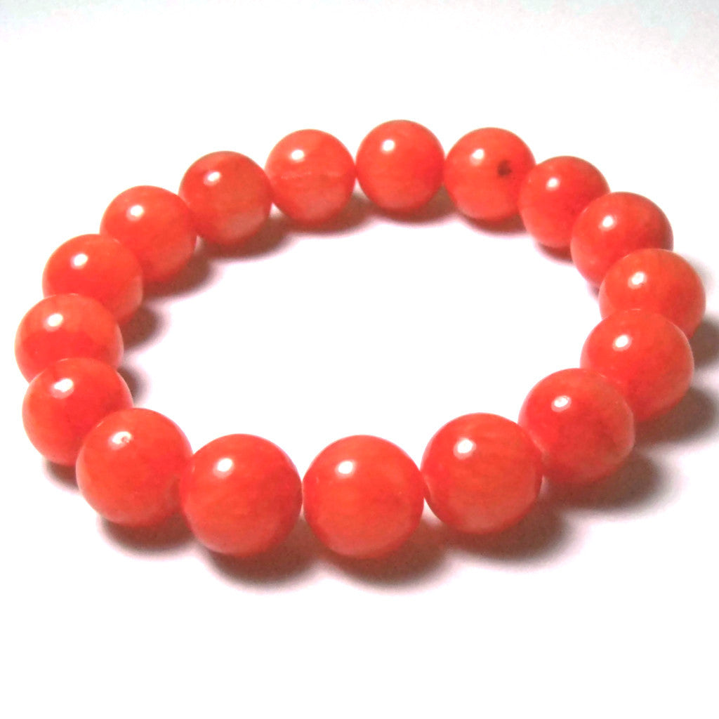 Bella Diva Kugelarmband Jade orange