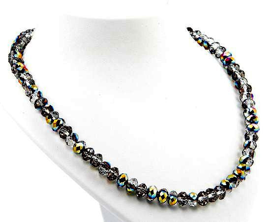 Mystic Quarz Collier 'Rainbow Grey'