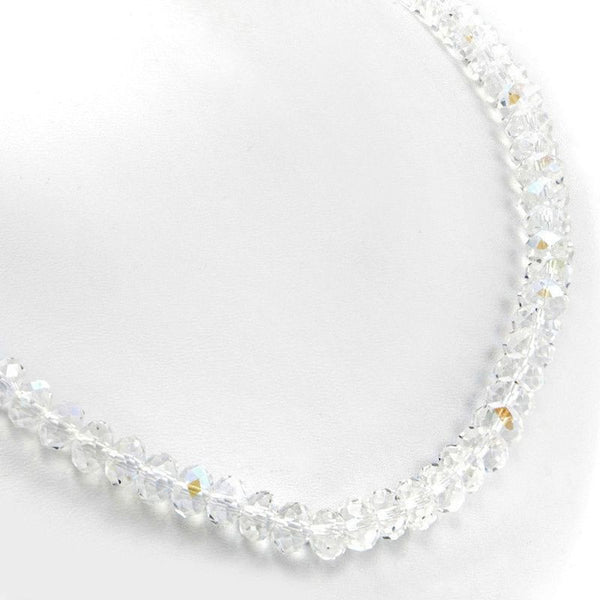 Weisses schimmerndes Mystic Quarz Collier 'Diamond Sparkle'