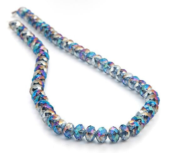 Mystic Quarz Collier  'Rainbow Blue'