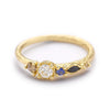 Mixed Stone Ring with White Diamond from Ruth Tomlinson, Handmade in London