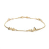 Grey and champagne diamond yellow gold bracelet from Ruth Tomlinson, handmade in London