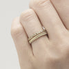 Champagne diamond eternity band from Ruth Tomlinson, made in London