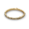 Black and grey diamond eternity band from Ruth Tomlinson, handmade in London