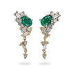 Emerald and diamond drop earrings from Gemfields and Ruth Tomlinson collaboration