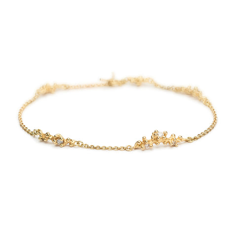 Diamond Bracelet with Granules