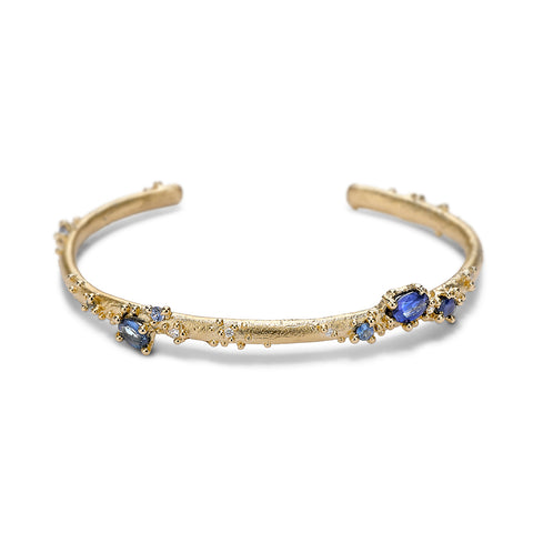 Sapphire and diamond cuff from Ruth Tomlinson, handmade in London