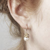 Pearl and diamond drop earrings from Ruth Tomlinson, made in London
