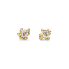 Solitaire diamond stud earrings by Ruth Tomlinson, handmade in London