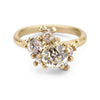 Yellow and white diamond engagement ring from Ruth Tomlinson, handmade in London