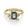 Sapphire and Diamond Luminous Cluster Ring by Ruth Tomlinson, handmade in London