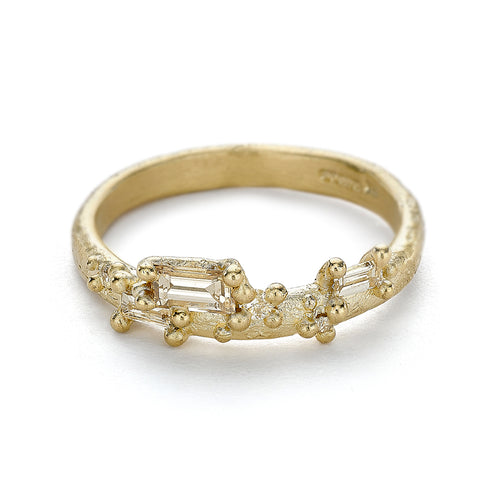 Diamond encrusted wedding band from Ruth Tomlinson, handmade in London