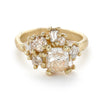 Champagne Diamond Sweeping Cluster Ring from Ruth Tomlinson, handmade in London