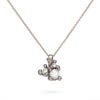 Antique white diamond and white gold pendant by Ruth Tomlinson, handmade in London