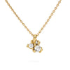 Antique white diamond and yellow gold pendant by Ruth Tomlinson, handmade in London