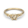 Champagne diamond encrusted solitaire engagement ring from Ruth Tomlinson