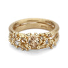 Solitaire Diamond Encrusted Ring - Champagne