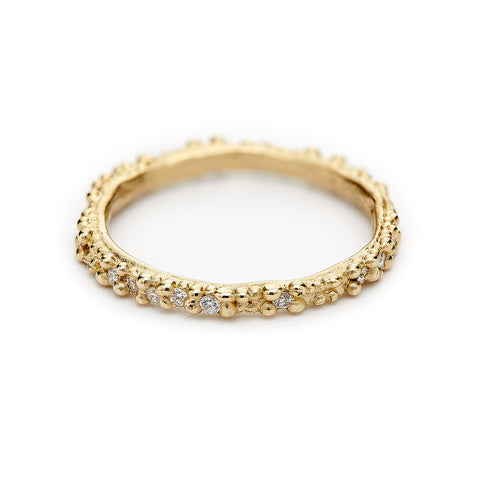 Double Beaded Eternity Band from Ruth Tomlinson, handmade in London