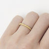 Unique yellow gold ladies wedding band from Ruth Tomlinson, made in London