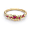 Ruby Ring with Granules by Ruth Tomlinson, handmade in London