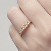 Five Stone Ring with Granules - Champagne Diamond