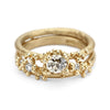 Solitaire Champagne Diamond Ring with Granules
