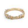 Unique Ruth Tomlinson diamond encrusted wedding band or stacking ring, handmade in London.